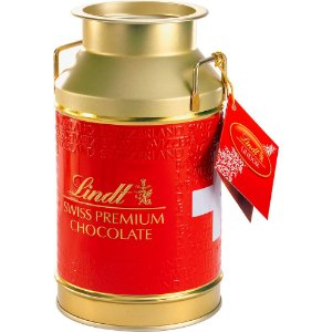 Chocolate Suiço Lindt Lindor Milk Ethno Gold Can 250g - Catelândia
