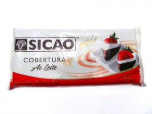 Cobertura de Chocolate Sicao 2kg - Chocolate Ao Leite - Barra Para Derreter - Catelândia