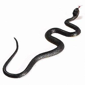 Cobra de Borracha Preta 40 cm - Halloween Edition - Catelândia