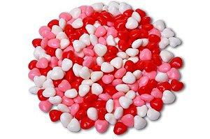 Confeitos de Coração Sortidos para Decorar Mesas de Guloseimas 500g - Catelândia