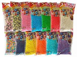 Confeitos Decorativos no Formato de Bolinhas Cor Roxo 500g - Catelândia