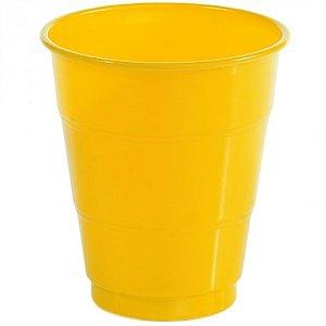 Copos Descartáveis 200 ml Amarelo 50 Unidades - Catelândia