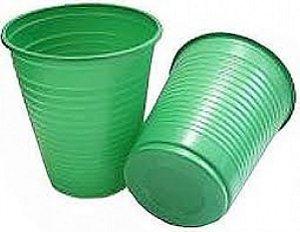Copos Descartáveis 200 ml Verde 50 Unidades - Catelândia