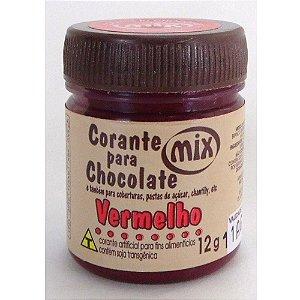 Corante Vermelho para Chocolate 12g - MIX
