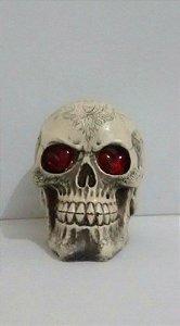 Cranio com Olhos Led para Decoração Halloween - Catelândia