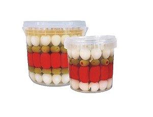 Espetinhos de Ovinhos de Codorna, Salsichas e Azeitonas 30 Un - Ideal para Festa Junina