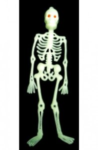 Esqueleto Neon - Decorativo - Festa Halloween 24cm - Catelândia