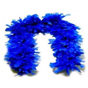 Estola  para Festas - Pluma de Penas Azul Royal