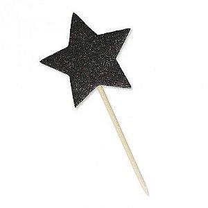 Estrela Preta Especial para Decoração ou Lembrança Festa Teen 10 Un - Catelândia