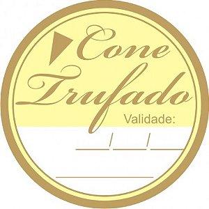 Etiqueta Rótulo Adesiva para Cone Trufado 60 Un - Catelândia