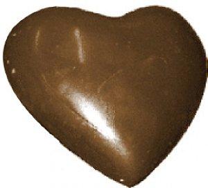Forma Silicone 3 Partes Para Fazer Chocolate Formato Coração 500g - BWB