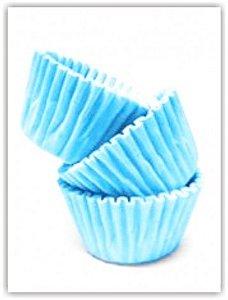 Forminha para Docinhos de Festa 100 Un Azul Claro - Catelândia