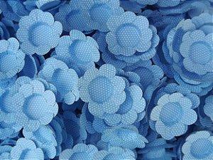 Forminhas para Docinhos Azul Escuro Com Bolinha Branca 50 Un - Catelândia
