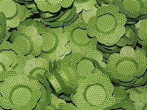 Forminhas para Docinhos Verde Com Bolinha Branca 50 Un