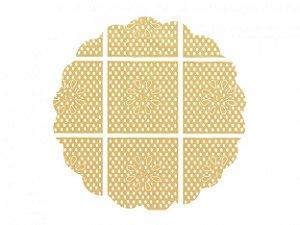 Fundo Rendado para Decoração de Docinhos Dourado 100 Un - Catelândia