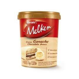 Ganache Branco Melken Pode Rechear Ovo Trufado e de Colher 1kg - Harald