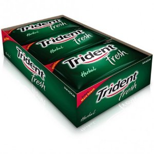 Goma de Mascar Trident Fresh Herbal c/ 21 unidades - Adams