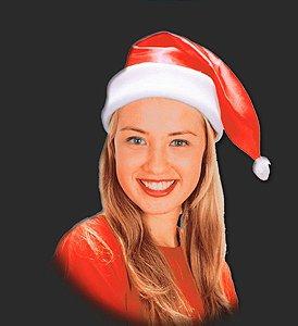 Gorro Luxo para Fantasia de Papai ou Mamãe Noel - Catelândia