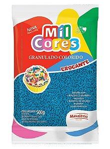 Granulado Colorido Mil Cores Azul 500g - Mavalério