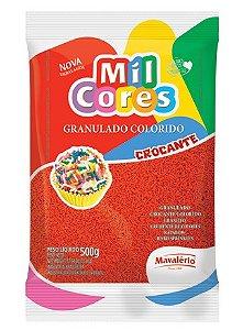 Granulado Colorido Mil Cores Vermelho 500g - Mavalério