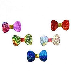 Gravata Borboleta Metalizada Cores Sortidas - 10 Un