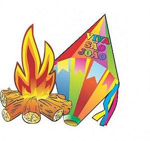 Kit C/ 1 Balão E 1 Fogueira 64cm Decoração De Festa Junina - Catelândia