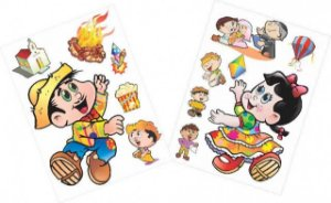 Kit Decorativo Festa Junina com 13 Figuras Destacáveis - Catelândia