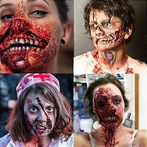 Kit Maquiagem do Terror Completa para o Halloween - Catelândia