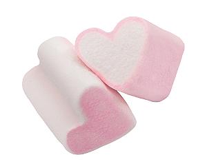 Marshmallow Formato Coração 500g - Catelândia
