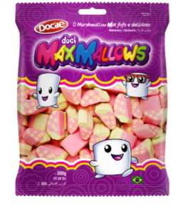 Marshmallow Formato Moranguinho Max Mallows 250g - Catelândia
