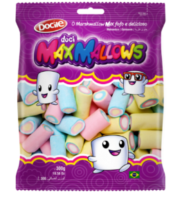 Marshmallows ColoridoTubos 250 g Max Mallows - Catelândia