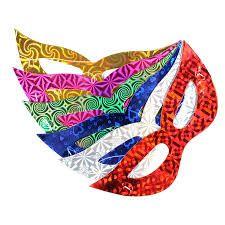 Máscara Metalizada Holográfica 10 Unidades - Catelândia