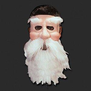 Máscara Velho Papai Noel Realística em Látex com Barba para Fantasia - Catelândia