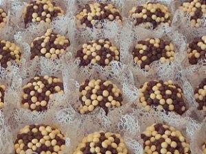 Mini Bolinhas de Cereal Crocante com Cobertura de Chocolate ao Leite e Branco 500g - Mavalério