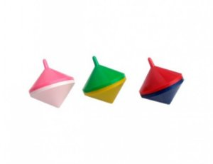Mini Brinquedo - Pião Bicolor - 12 Un - Catelândia
