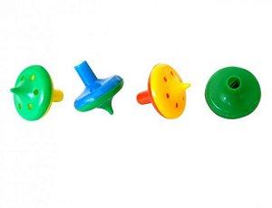 Mini Brinquedo - Pião Corneta 10 Unidades - Coloridos - Catelândia