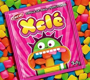 Mini Chicle de Bola Colorido Xclé 24 Pacotinhos de 11 g - Catelândia