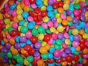Mini Pastilhas de Chocolate Tipo Confetis Coloridos Coloretis 500g - Catelândia
