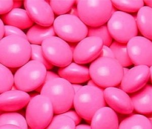 Mini Pastilhas de Chocolate Tipo Confetis Rosa Coloretis 500g - Catelândia