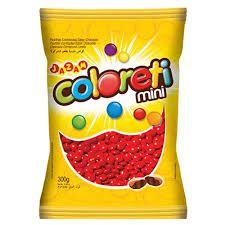 Mini Pastilhas de Chocolate Tipo Confetis Vermelha Coloretis 500g - Catelândia