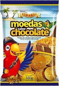 Moedas de Chocolate 160g Aprox. 50 Moedas Ki Kakau - Catelândia
