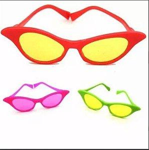 Óculos Gatinha Adulto Anos 60 Cores Diversas - 10 Unidades