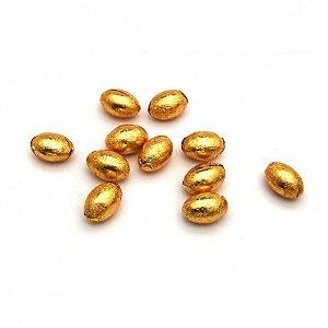 Ovinhos De Chocolate - Mini Ovos de Páscoa - Cor Ouro - 45 Unidades