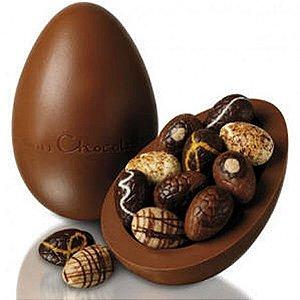 Ovo De Páscoa Gigante 5 Kg De Chocolate Ao Leite Tipo Belga C/ Diversos Bombons