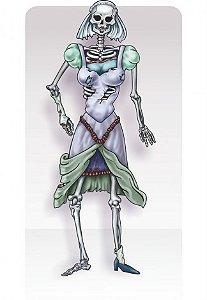 Painel Esqueleto Noiva Articulado - Grande 1,50m - Decoração De Halloween - Catelândia