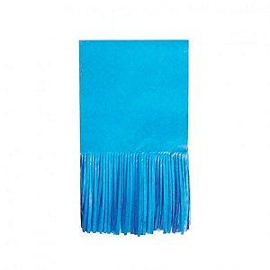 Papel para Bala de Coco Seda Franjinha 48 Un Azul Claro - Catelândia