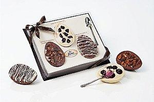 Páscoa Gourmet Ganache de Amêndoas, Nutella e Blueberry - Acompanha Colher - Catelândia