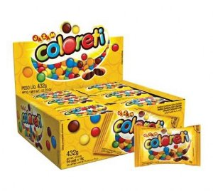 Pastilhas de Chocolate Tipo Confetis 24 Unidades de 18g - Jazam