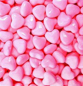 Pastilhas Sabor Chocolate Formato Coração Rosa 350g - Catelândia