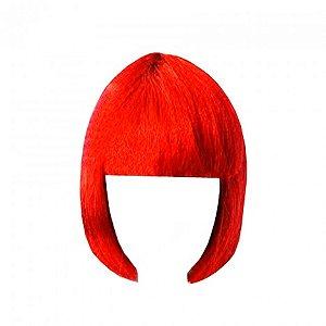 Peruca Chanel Vermelha com Cabelos Sintéticos - Catelândia